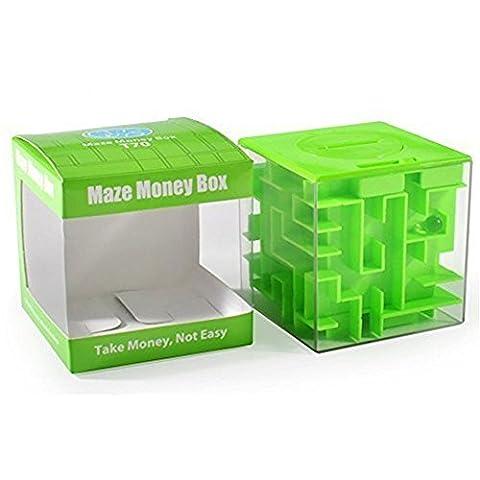 Cadeaux parfaits SainSmart Jr. Amaze CB-22 Cube argent Maze Banque uniques pour les enfants-100% Satisfaction garantie! (Vert)