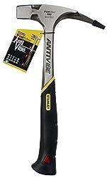 Stanley FatMax Antivibe Latthammer (600 g Kopfgewicht, 340 mm Länge, ergonomischer DynaGrip-Griff, vibrationsgedämpft, mit magnetischem Nagelhalter) 1-51-937