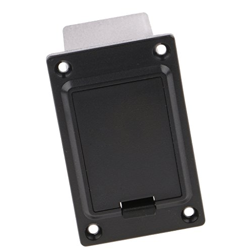 Generic 9V Battery Case Cover Box Holder for Active Guitar Bass Pickup Electronics Black #3  available at amazon for Rs.210