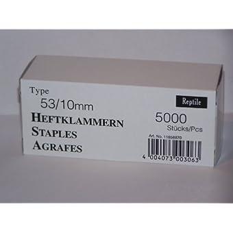 Rapid Industrie agrafes fines type 53/10 mm-lot de 5000 11858870 boîte