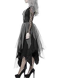 willkey Costumes d'halloween Femmes Deguisement Cimetière Mariée Cosplay Corpse Vampires Dames Sexy Robes en Dentelle Noire Fancy Dress Party