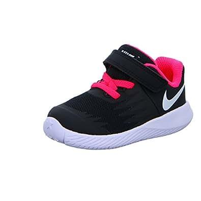 Nike Star Runner (TDV), Scarpe da Trail Running Unisex-Bambini, Nero (Black/White/Volt/Racer Pink 001), 26 EU
