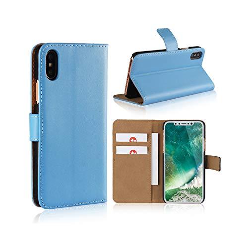 Smart Fit Sport Coque iPhone - en Cuir Flip Case pour iPhone X/XS 4/4S 5/5S 5C 6/6s 6 Plus 7/8 7 Plus/8 Plus (Bleu, for iPhone 4/4s)