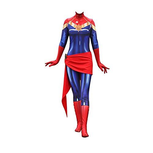 YXIAOL Erstaunliches Captain Kostüm, Avengers Cosplay Kostüm, Superheld Kostüm, Halloween Partykleid, 3D Lycra Strumpfhose (S-XXXL),Red-L