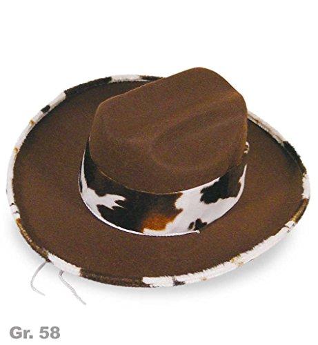 Weste Mardi Kostüm Gras - Texashut Western, 58 cm, Western, Saloon, Karneval, Wilder Westen, Cowboy