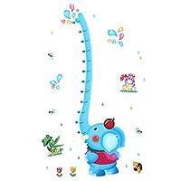 Room Cartoon Elephant Height Chart Wall Sticker Decal Wallpaper