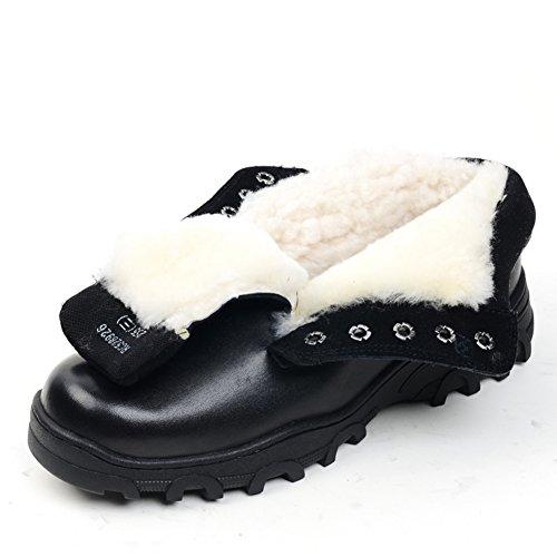 Inverno uomo inverno tenere calde scarpe-B Lunghezza piede=24.3CM(9.6Inch)