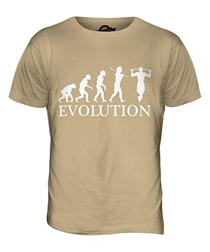 CandyMix Klimmzug Evolution Des Menschen Herren T Shirt Sand