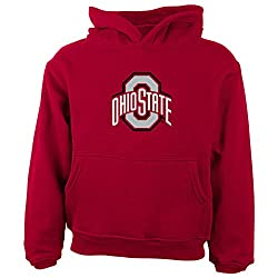 NCAA Ohio State Buckeyes Primary Logo RP FLC Hoodie, 2 Tall, University Red