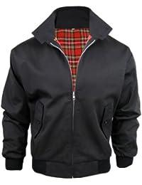 Mens Harrington Vintage Retro Mod Jacket - BLACK - M