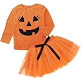 Lurryly Clothes For Girls Size 10 12 Rompers For Girls Clothes For Baby Girls Gifts For Mom,Toddler Girl Dresses Jumpsuit For Baby Girl Clothes For Girls Rompers,Orange,Size:18M Label Size:90