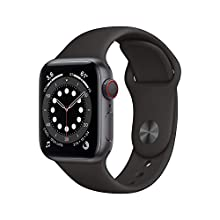 New Apple Watch Series 6 (GPS + Cellular, 40mm) - Space Grey Aluminium Case with Black Sport Band