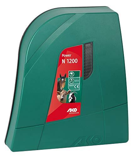 AKO Weidezaungerät Power N 1200-230 Volt - Funktionskontrolleuchte - für Kurze Zäune und wenig Bewuchs - Pferde, Schafe, Geflügel und Hobbytierhaltung