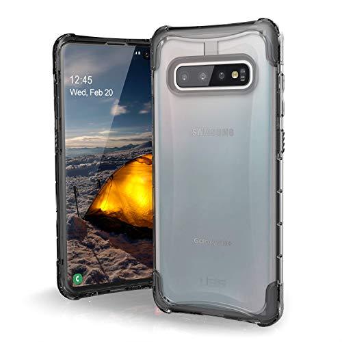 Urban Armor Gear Plyo Hülle für Samsung Galaxy S10+ / S10 Plus nach US-Militärstandard [Qi kompatibel, Sturzfest, Verstärkte Ecken] - transparent (ice)