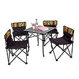 BAIVIT Zusammenklappbarer Campingtisch Und Stuhl-Set Tragbarer Picknicktisch Außengrillstuhl Courtyard Essbereich (Mit Einkaufstasche),Tablesandchairs