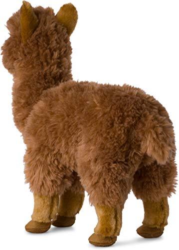 WWF Plüschtier Alpaga, realistisch, mit vielen ähnlichen Details - weich und weich, CE-Norm, Beige - Höhe 31 cm