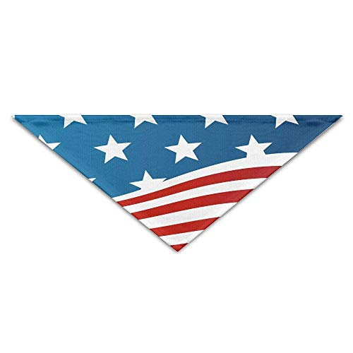 s US Flag Dog Bandana Triangle Bibs Scarfs Accessories Pet Cats Puppies ()