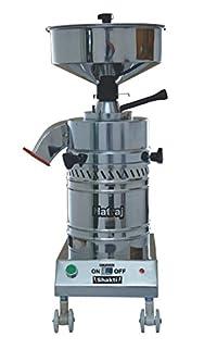Natraj Shakti Stone Round Domestic Flourmill Aata Maker, Flour Mill, Ghar Ghanti, Atta Chakki (Motor- 1 HP)