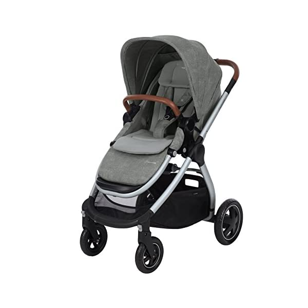 Maxi-Cosi Adorra Baby Pushchair, Comfortable and Lightweight Stroller with Huge Shopping Basket, Suitable from Birth, 0 Months - 3.5 Years, 0-15 kg, Nomad Grey Maxi-Cosi Cocooning seat - the luxury of a large padded seat for baby Lightweight - a light stroller less than 12kg that makes walking effortless Huge shopping basket - very easy to access 2
