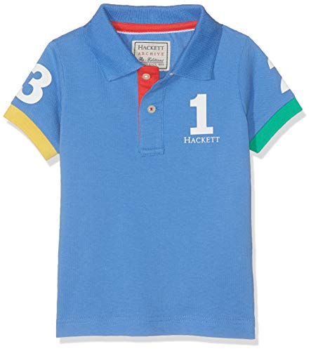 Hackett London Jungen Poloshirt NUMB POLO SS Blau (WASHED BLUE 5PH) 164 (Herstellergröße:13-14 Years)