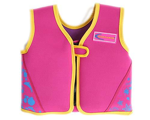 Ruiuzi Gilet Galleggiante per Bambini Giubbotto per Nuoto Toddlers da Nuoto Costume da Bagno Galleggiante Imparare a Nuotare 2-6 Anni (Rosso, S(7-13kg Height 85-100cm))