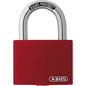 ABUS 65AL40RED Open Shackle Padlock - Red