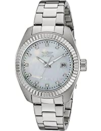 Invicta Damen-Armbanduhr Analog edelstahl Silber 20351