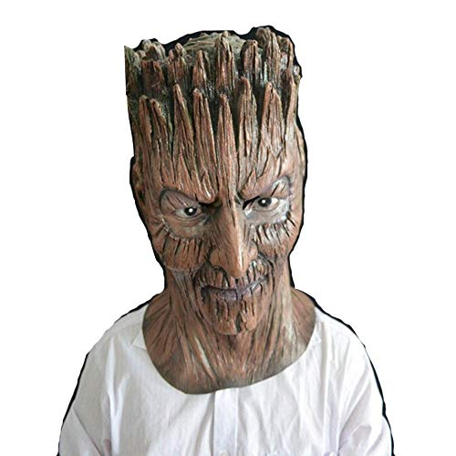 sk,Tree Demon Mask Costume Party Halloween Thriller Party Magic Carnival Props ()