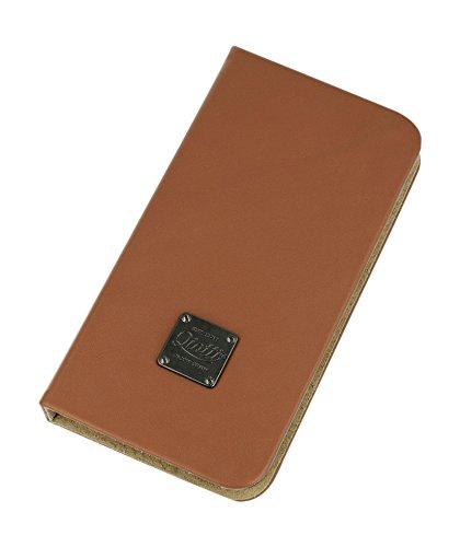 QIOTTI QP-B-0100-01-SGS4 Q.Book Carrier Premium Echtleder 2-in-1 abnehmbare Schutzhülle für Samsung Galaxy S4 Booklet braun