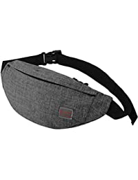 Men's Waist Bag Sports Outdoor Recreation Waterproof Shoulder Messenger Chest Bag (Grey)