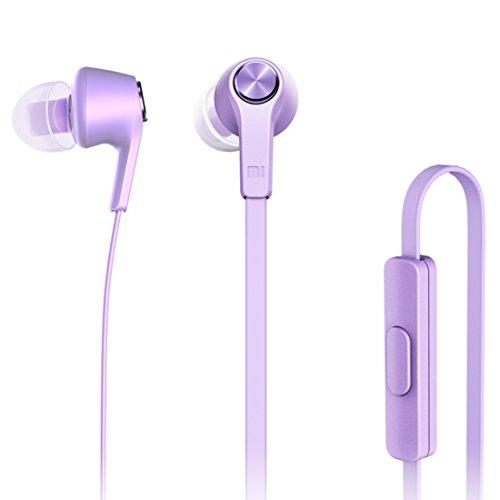 Xiaomi Basic Edition In-Ear Kopfhörer mit Fernbedienung & Mikrofon für iPhone iPad iPod Xiaomi Samsung Huawei Laptop PC Mac MP3 Player und weitere in lila violett (Xiaomi Over-ear-kopfhörer)