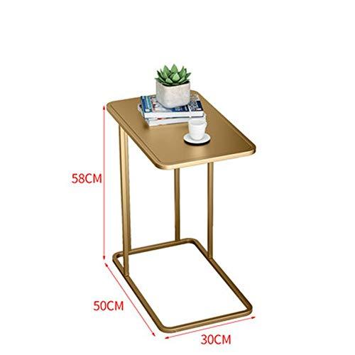 WOAINI Nordic Ins Kleiner Couchtisch Einfacher quadratischer Tisch Sofa Side Side Cabinets Wohnzimmer Ecke Beistelltisch Schlafzimmer Bett Tisch / 19.7x11.8x22.8inches (Farbe : Metallic) -