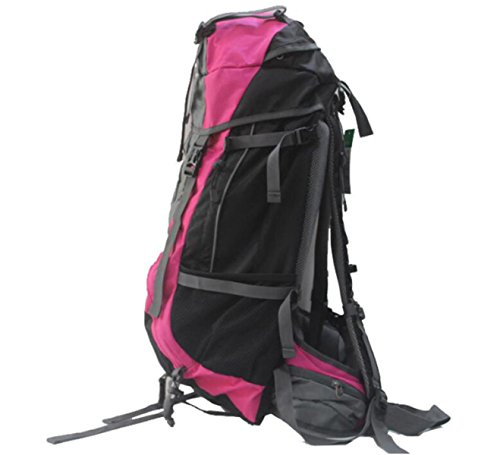 Trekking Zaino Sacchetto Borsa Resistente All'acqua Per L'escursionismo All'aperto Arrampicata Camping Alpinismo,Green RoseRed