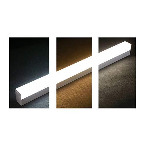 Silber Drei Licht-eitelkeit (Led 3-farbe Dimmbar Spiegelleuchte,eitelkeit Lichter Für Spiegel Schminklicht Wandleuchten Badleuchte Beleuchtung Fixture Strip Für Schminktisch-silber 60cm(24inch))