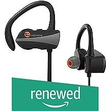 (Renewed) TaoTronics BH10 Sweatproof Bluetooth in Ear Earbuds with Mic (Black)