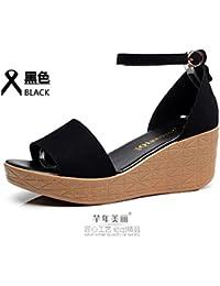 Xing Lin Damen Sandalen Sandalen Student Schuhe Lady Liebhaber Sommer Casual Schuhe Outdoor Beach Schuhe 43...