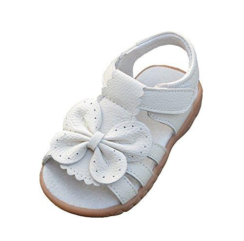 hellomiko Mode Baby Sandalen Outdoor Soft Schuhe Mädchen Prinzessin Schuhe Bow Weiß Sandalen Strand Schuhe (Mädchen Sandles Gladiator)