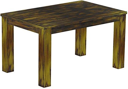Brasilmöbel Esstisch Rio Classico 140x90 cm Goldmix Massivholz Pinie Holz Esszimmertisch Echtholz Größe und Farbe wählbar ausziehbar vorgerichtet für Ansteckplatten