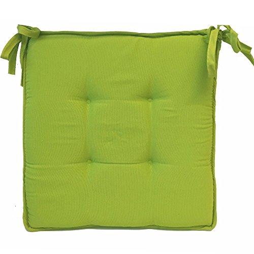 Stuhl Für Sitzkissen (JEMIDI Stuhlkissen Sitzkissen Stuhl Auflage Polster Gartenstuhl Garten Sitz Kissen - Erhältlich in 3 Größen / Auswählbar! Grün (ca. 40cm x 40cm x 3,5cm))