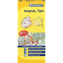 Michelin Map France: Aveyron, Tarn 338 (Maps/Local (Michelin)) (English and French Edition) by Michelin (2011-01-16)