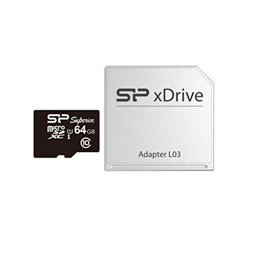Silicon Power 64GB xDrive Minecraft für MacBook-, Micro-Speicherkarte mit Adapter (sp064gbstxdu1V10ap)