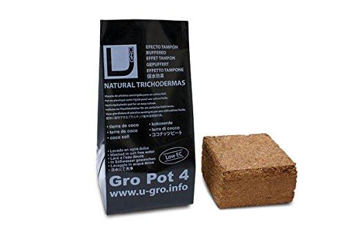 UGRO pot4 L COCO Substrat Pot de fleurs Terre de coco Grow