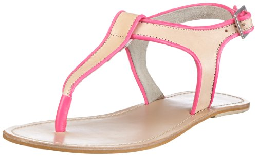 Mimic Copenhagen Leather sandal w. silver detail M132625 - Sandalias de cuero para mujer, color marrón, talla 36