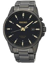 Seiko Herren-Armbanduhr XL Kinetic Analog Automatik Edelstahl beschichtet SKA531P1