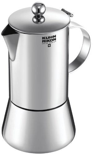 Kuhn Rikon Juliette - Cafetera espresso para inducción, 4 tazas
