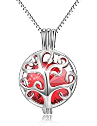 Colgante Árbol de la vida collar colgante de creado con cristales de Swarovski®, caja de plata de ley Collar con camafeo con caja de regalo