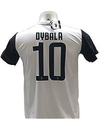 T-Shirt Maillot de Football PAULO DYBALA 10 Juventus NOUVEAU Saison 2017-2018 Replica OFFICIEL avec LICENCE - Tous Les Tailles ENFANTS et ADULTES