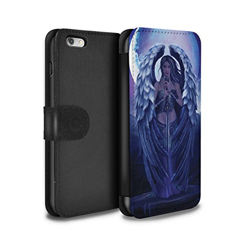 Officiel Elena Dudina Coque/Etui/Housse Cuir PU Case/Cover pour Apple iPhone 6+/Plus 5.5 / Cyborg Design / Super Héroïne Collection Ange Gardien