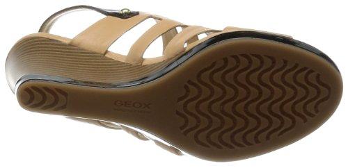 Geox  D Sibilla Sand B,  Damen Sling Backs Caramel/Black