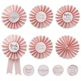 Ginger Ray Rosa & Rose Gold Hen Party Buttons 6 Stück ? Team Braut